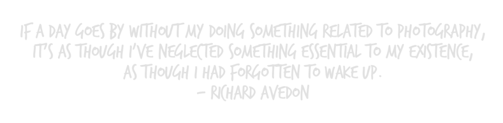 richard avedon quote about photography